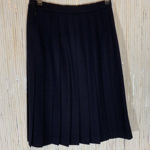 Jones New York Pleated Wool Skirt